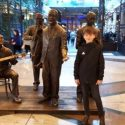 Oliver at the Trafford Centre on his shopping 'smile'.